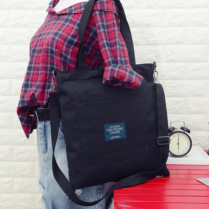 **โค้ด ( GLAM30 ) ลด 30%**Fila กระเป๋าสะพายไหล่สำหรับสตรีผ้าใบความจุขนาดใหญ่ anello กระเป๋าสะพายข้าง coach พอ bag วินเทจ