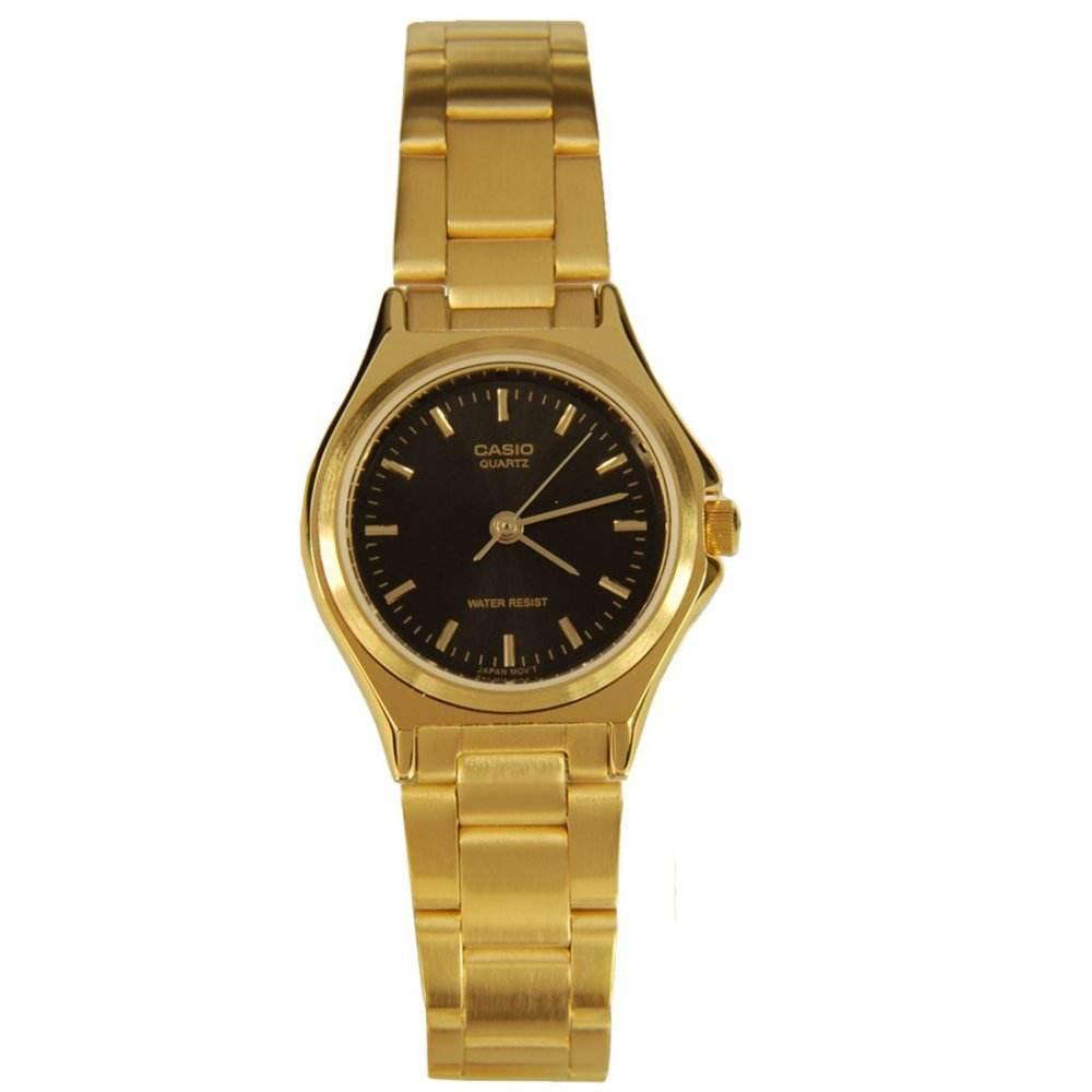 จัดส่งฟรีนาฬิกา รุ่น Casio นาฬิกาข้อมือผู้หญิง สายสแตนเลส สีทอง รุ่น LTP-1130N-1A ( Black/Gold ) จากร้าน MIN WATCH