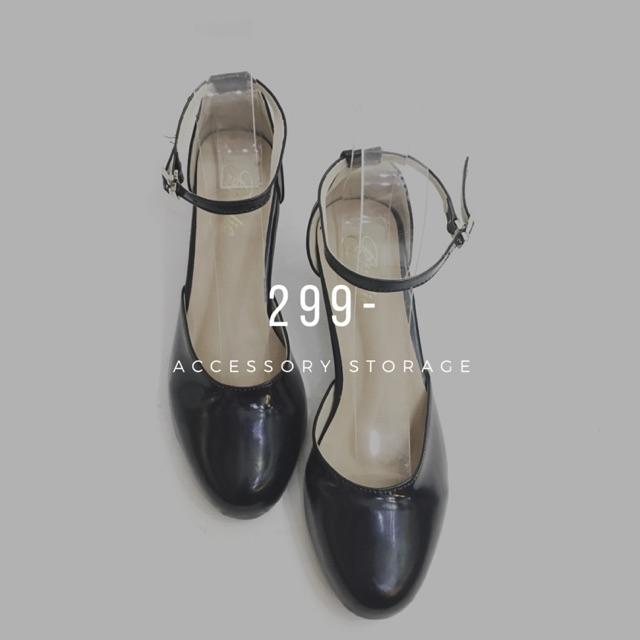 รองเท้า คัชชู ส้นสูง สีดำ
