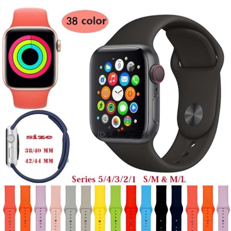 [สายนาฬิกาเท่านั้น] สร้อยข้อมือสายนาฬิกาสำหรับ Apple Watch สายนาฬิกาสำหรับกีฬา 38mm 42mm 40mm 44mm Series 3 Series 4 Series 5 สายนาฬิกาข้อมือapplewatch Iwatch42mm Applewatchmilaneseloopstrap นาฬิกา