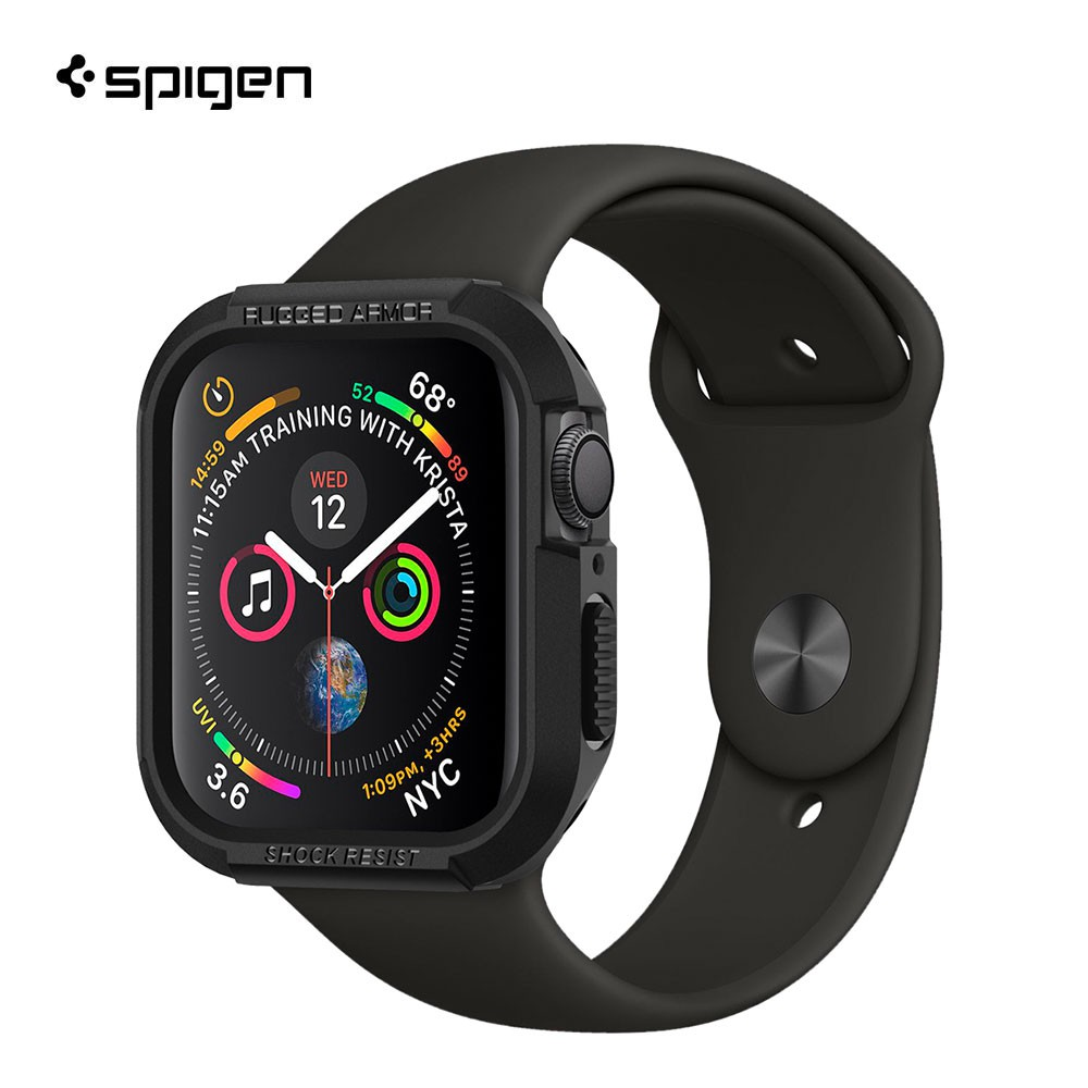 SPIGEN เคส Apple Watch Series 4 (40mm) Case Rugged Armor : Black