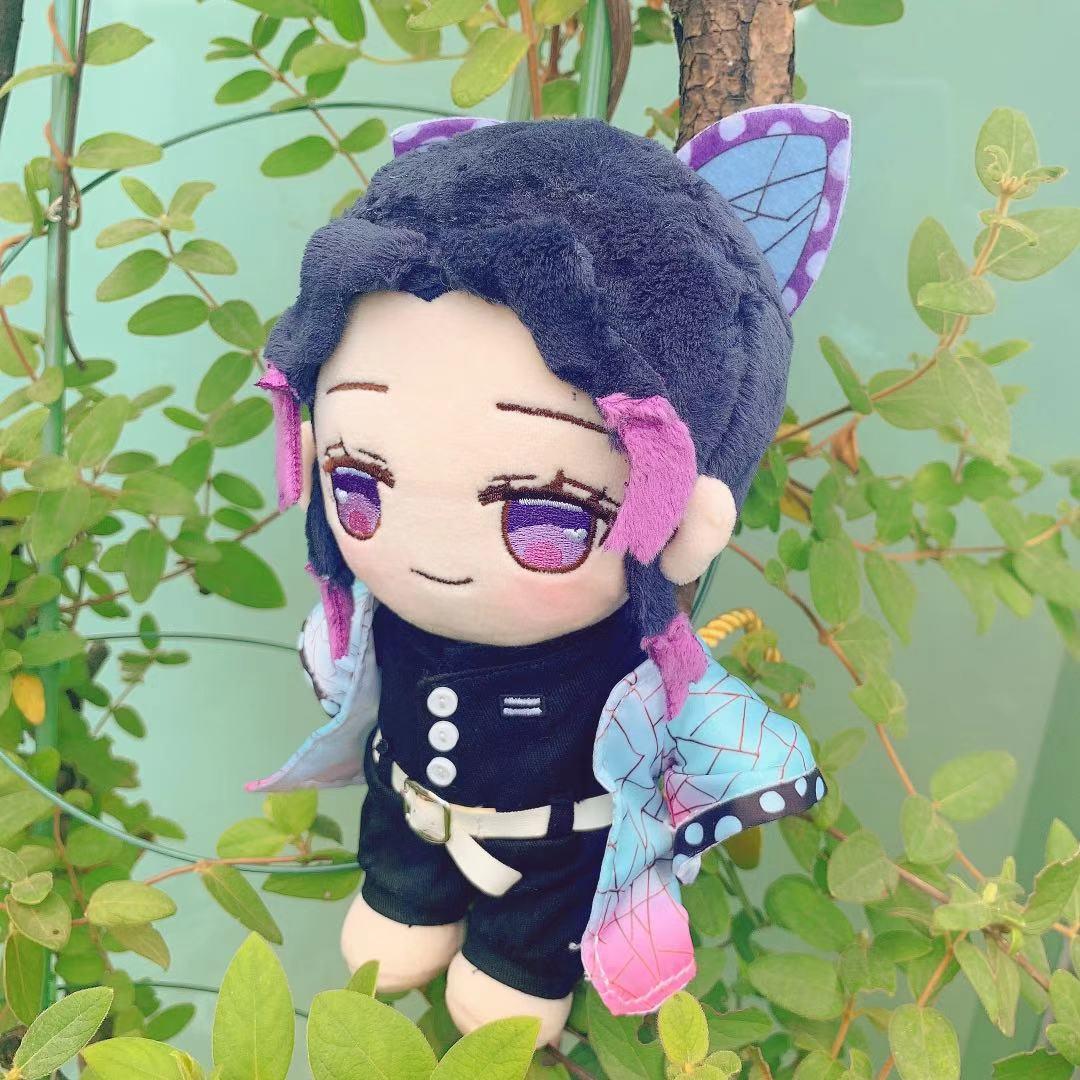 Demon Slayer Plush Kochou Shinobu Figure Plushie Doll Clothes Changeable Japan Anime Cosplay Merch Cartoon Toy Manga