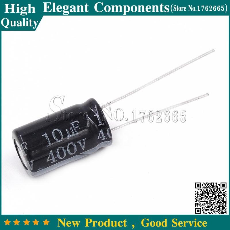 20PCS 10UF 400V 400V10UF 10*13 Aluminum Electrolytic Capacitor 400 V / 10 UF Size 10*13