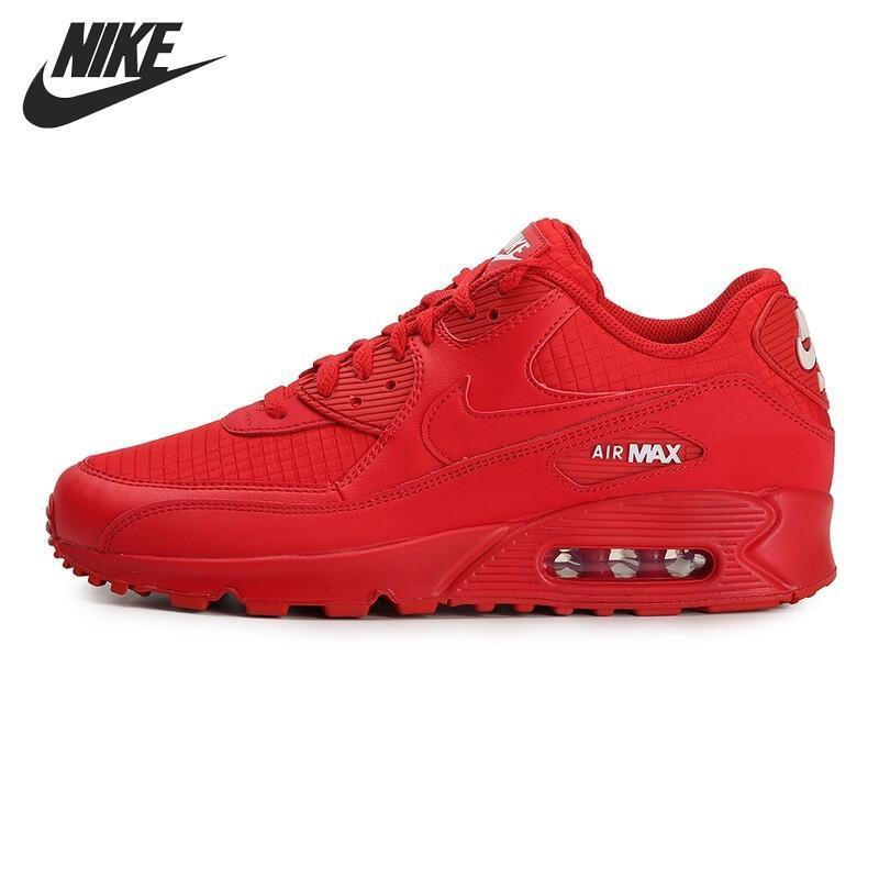 New product Ready original 【COD】 nike_AIR_Max 90_ESSENTIAL รองเท้าวิ่งผู้ชายรองเท้าผ้าใบสีแดง 2019 กีฬารองเท้าบาสเกตบอลร