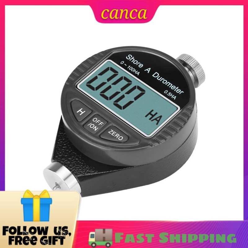 Canca Digital 100HD A Durometer Shore Rubber Hardness Tester LCD Display Meter
