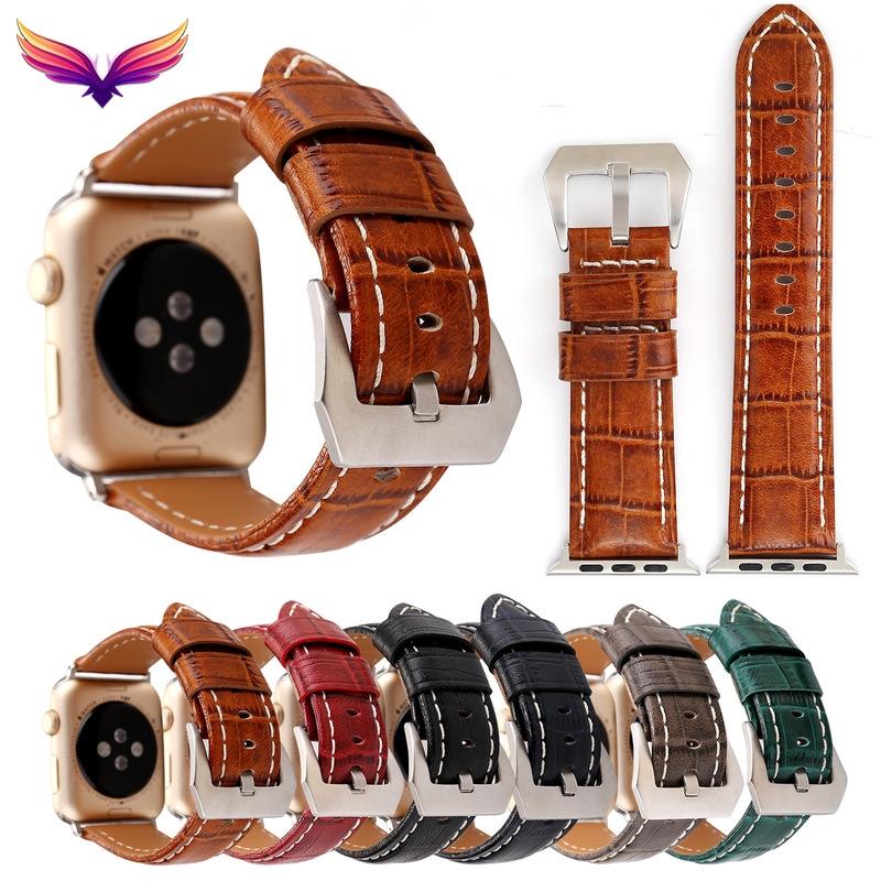 Applewatch นาฬิกาข้อมือสายหนังจระเข้