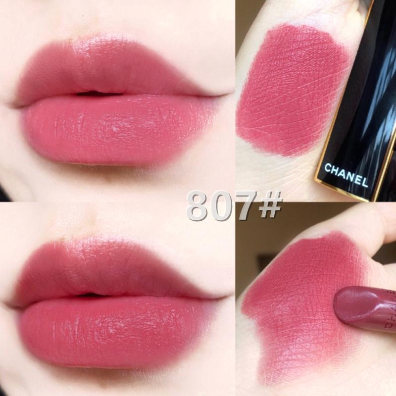 ลิปสติกสีดำสีทอง Chanel Matte 817 847 Lipstick