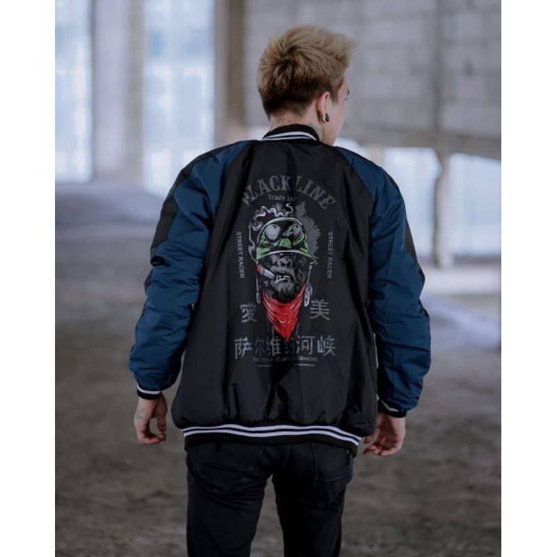 เสื้อแจ็คเก็ต Sukajan Bomber Jacket สําหรับผู้ชาย