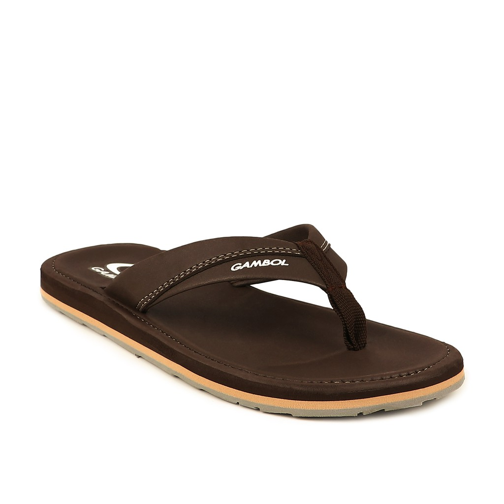 GAMBOL แกมโบล รองเท้าแตะลำลองชาย GM11324 สีดำ, น้ำตาลเข้ม, น้ำตาลอ่อน, ครีม, กรม, อิฐ Size 40-44