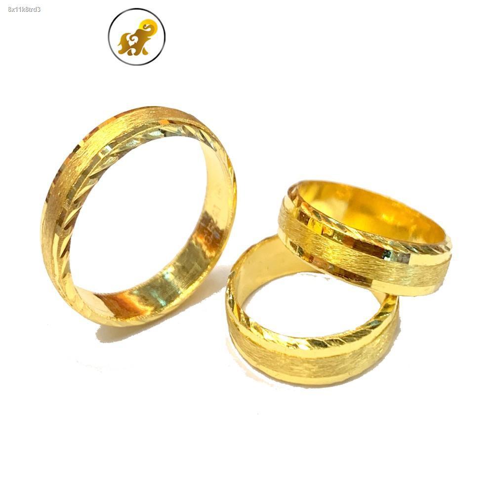 ราคาต่ำสุด✹☂♨Flash Sale แหวนทองครึ่งสลึง สายรุ้ง หนัก 1.9 กรัม ทองคำแท้ 96.5% มีใบรับประกัน