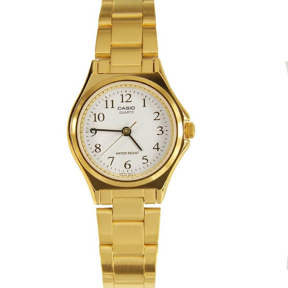 จัดส่งฟรีนาฬิกา รุ่น Casio นาฬิกาข้อมือผู้หญิง สายสแตนเลส สีทอง รุ่น LTP-1130N-7B ( White/Gold ) จากร้าน MIN WATCH