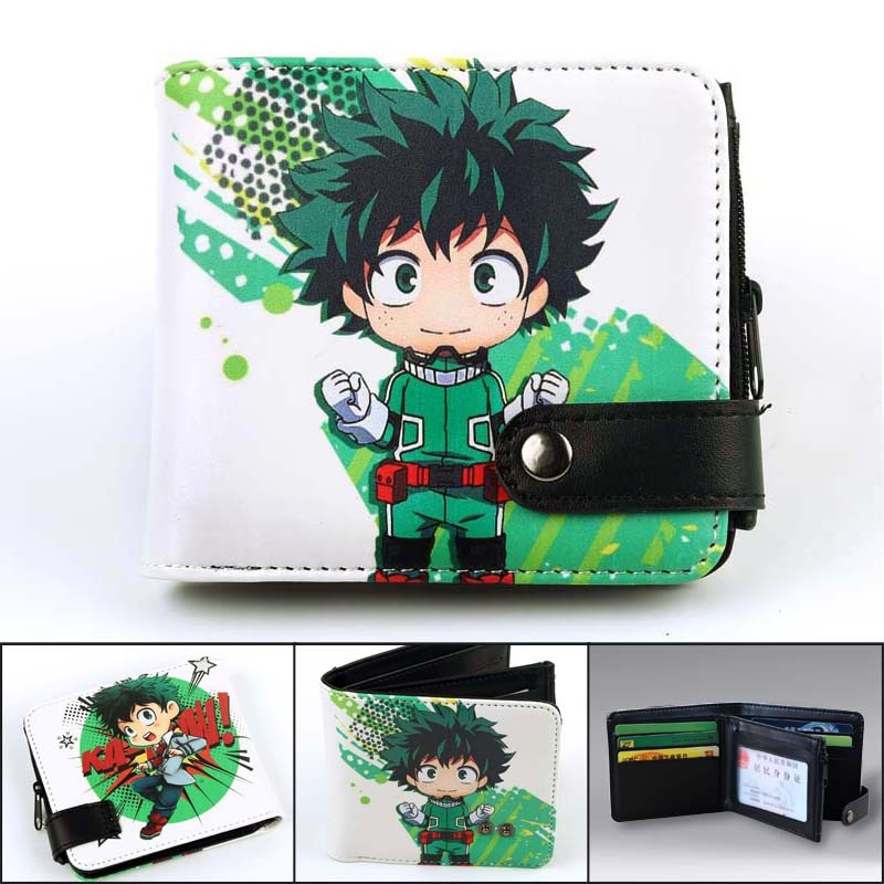 My Hero Academia Anime Wallet Todoroki Shoto Cartoon Leather pu Coin Purse Gift