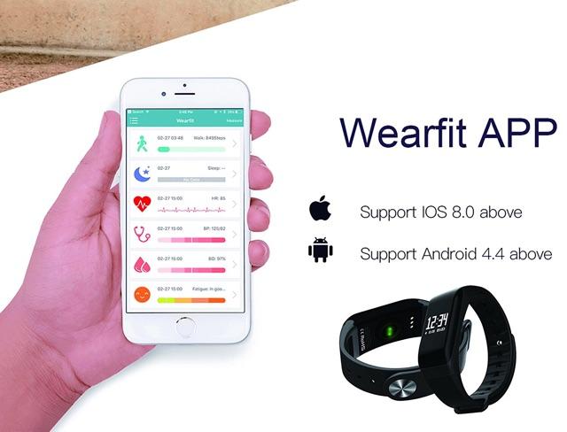 ⌚️Wearfit Smart Sports Bracelet สายรัดข้อมืออัจฉริยะเพื่อสุขภาพ