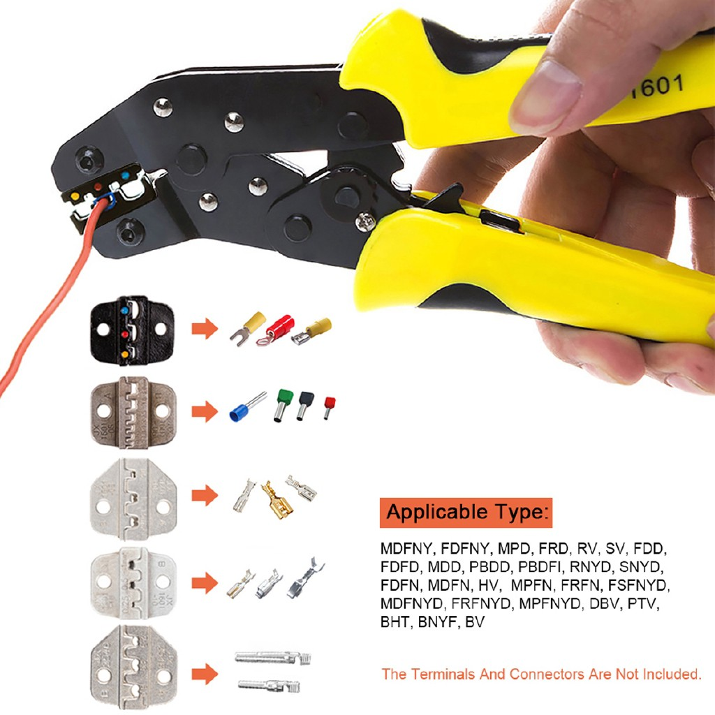 1 PCS Insulated Terminals Crimping Tool Plier Crimper 0.25-2.5mm2 AWG 24-14
