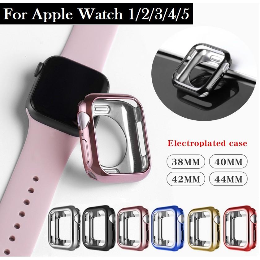 เคส Apple Watch ขนาด 38 มม. 40 มม. 42 มม. 44 มม. ซิลิโคนอ่อนนุ่มหุ้มใสสำหรับ iWatchSeries 6/5/4/3/2/1,Apple Watch SE Applewatch case