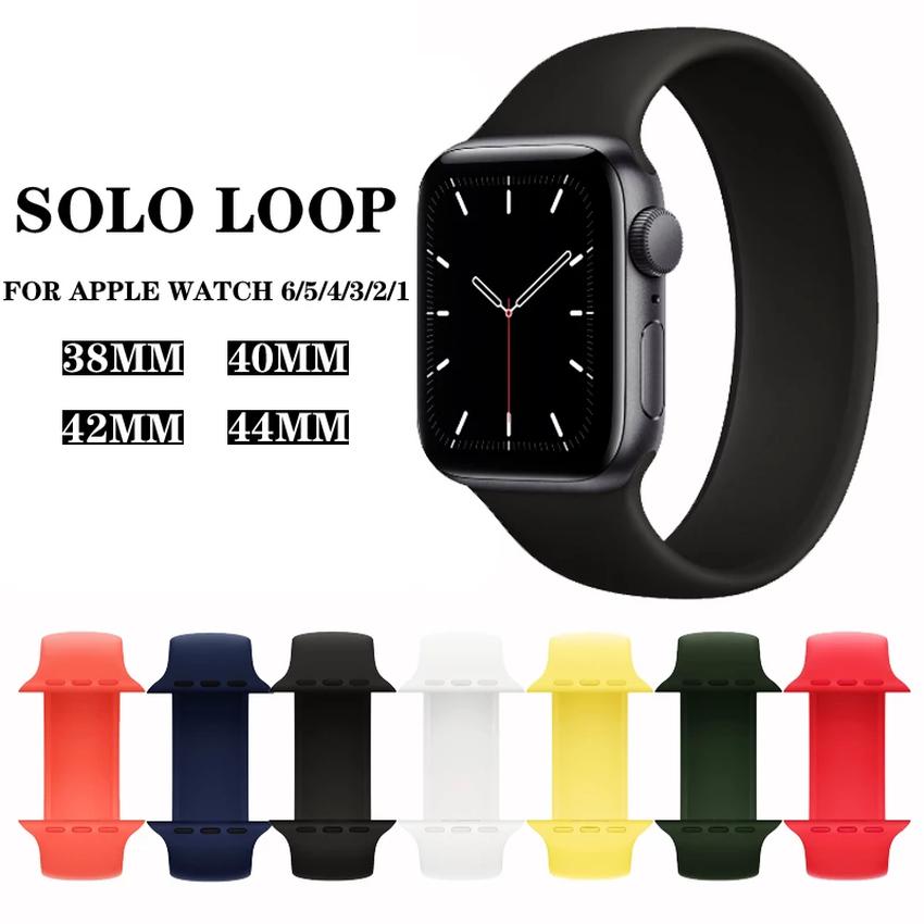 สายนาฬิกาข้อมือซิลิโคนสําหรับ Apple Watch Band 44 มม . 40 มม . 42 มม . 38 มม . Iwatch Series 6 Se 5 4 3 2 1