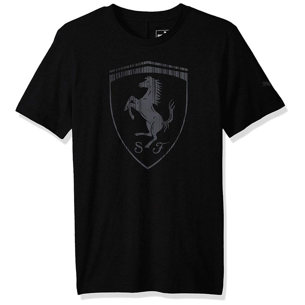 เสื้อยืดผ้าฝ้าย Puma Ferrari แฟชั่นสําหรับผู้ชาย