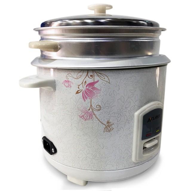 หม้อหุงข้าว Aclass / In-House หม้อหุงข้าว 1.8ลิตร รุ่น RC-1803  พร้อมซึงนึ่งอาหาร