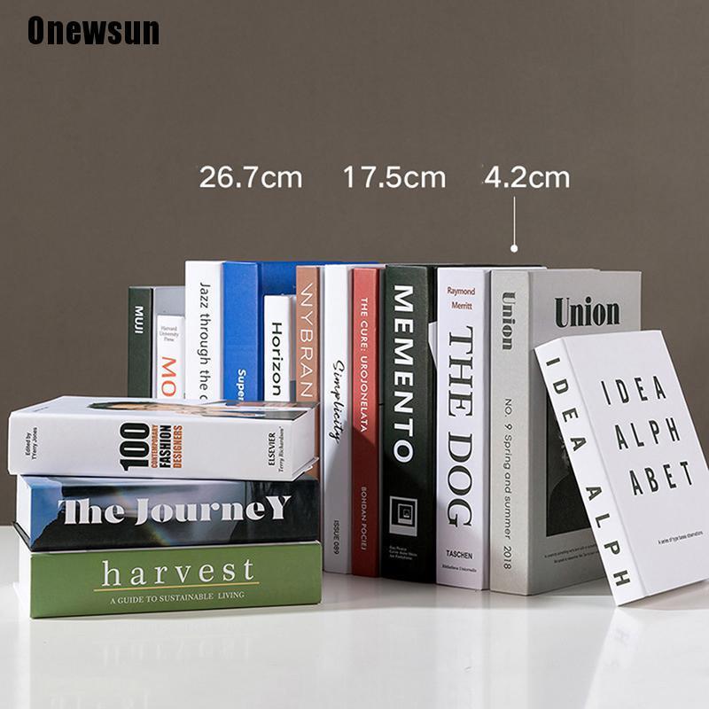 Onewsun^ Fake Books Home Decoration Stylish Beautiful Desktop Decoration Fake Book Box