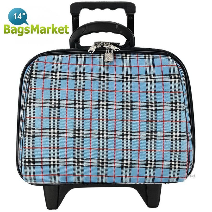 กระเป๋าเดินทางล้อลาก Luggage Wheal  14 นิ้ว BB-Scott Sky Blue กระเป๋าล้อลาก กระเป๋าเดินทางล้อลาก