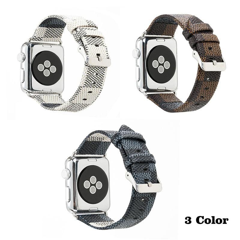 แฟชั่นสายนาฬิกาข้อมือตาข่าย Lv สําหรับ Applewatch Applewatch กับ Iwatch 1/2/3/4/5