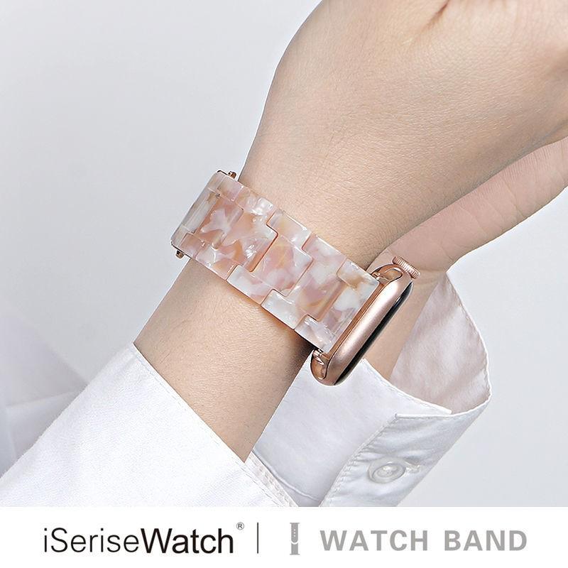 สายนาฬิกาข้อมือเรซิ่นสําหรับ Applewatch6 Turtleshell Iwatch 5 / 4 / 3 / 2 / 1 Se