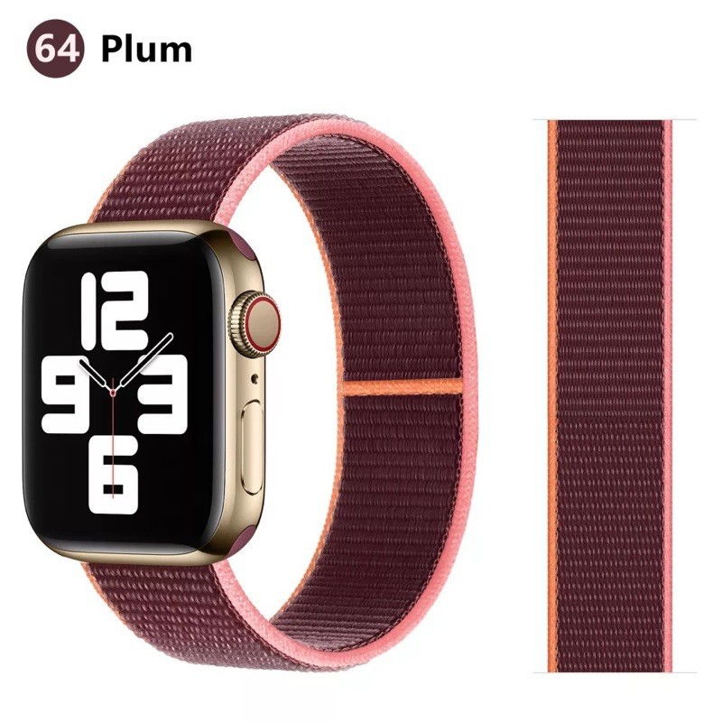สายนาฬิกา# สาย สำหรับ Applewatch sport loop สายผ้าไนลอน สายสำหรับApplewatch  watch 1/2/3/4/5/6 38mm 40mm 42mm 44mm สายแอ