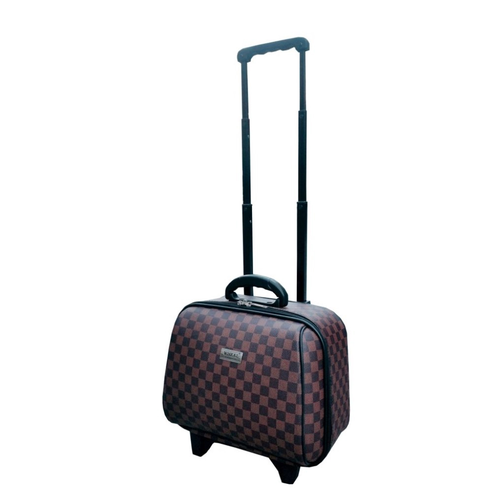 Onebagshop กระเป๋าเดินทางล้อลากรุ่นมินิ CodeK243 size 14 นิ้ว  [ตารางน้ำตาล]nebagshop กระเป๋าเดินทางล้อลากรุ่นมินิ CodeK