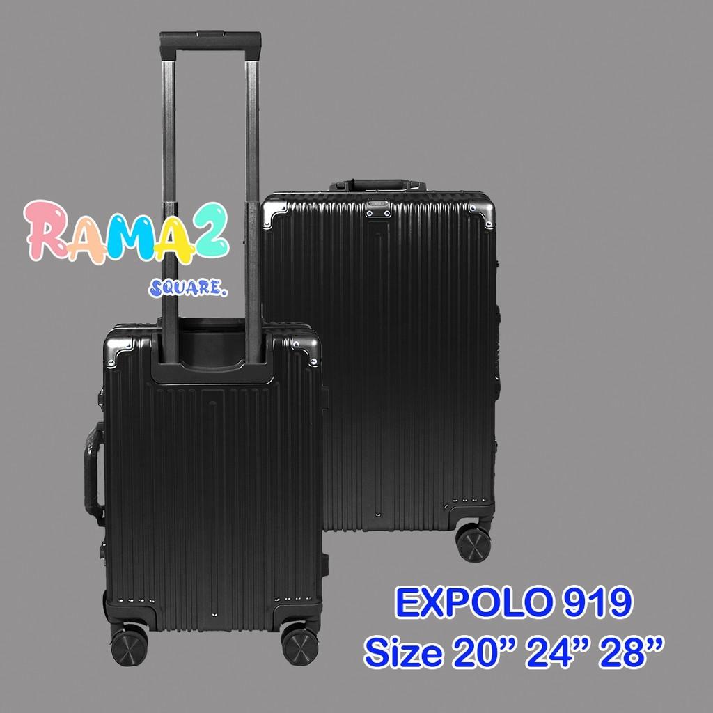 """กระเป๋าเดินทาง🛫 รุ่น 919 Size 24"""" สีดำ#เพื่อนเดินทาง"""