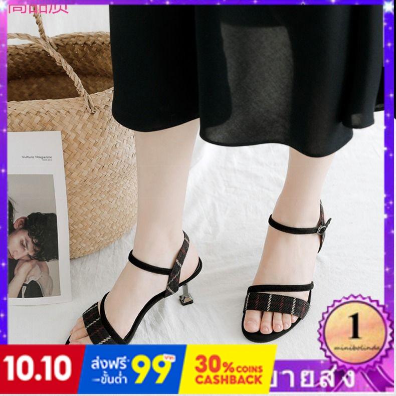 ⭐👠รองเท้าส้นสูง หัวแหลม ส้นเข็ม ใส่สบาย New Fshion รองเท้าคัชชูหัวแหลม  รองเท้าแฟชั่นรองเท้าแตะเวอร์ชั่นเกาหลีของผู้หญิง
