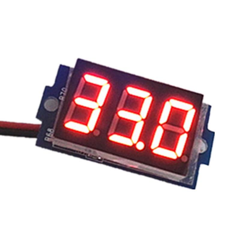 DC 12 V-24V Mini Auto Car LED Light Digital Voltage Volt Meter Display Voltmeter   Shopee Thailand