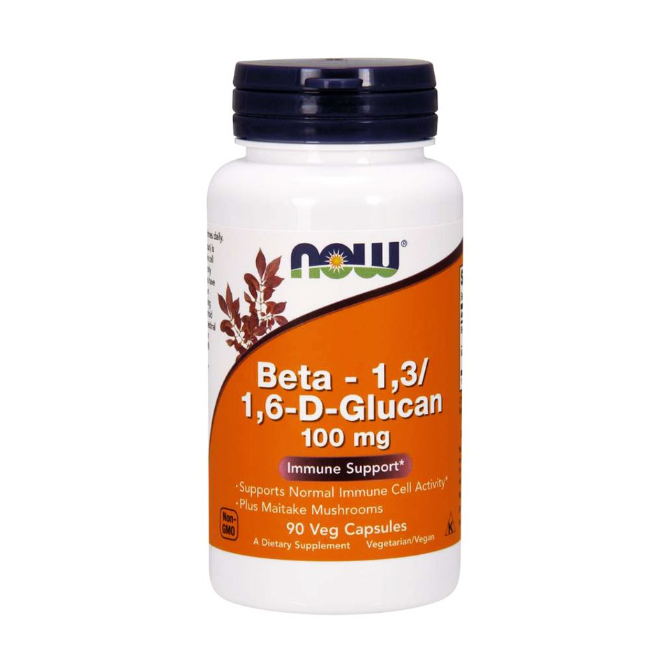 Now Foods Beta-1,3/1,6-D-Glucan immune support 100mg ขนาดบรรจุ 90 Capsule