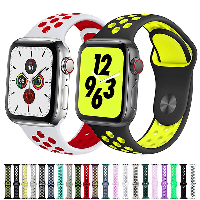 nike apple watch 38 มม. 40 มม. 42 มม. 44 มม. iwatch series 5/4/3/2/1 รองเท้าผ้าใบลําลอง