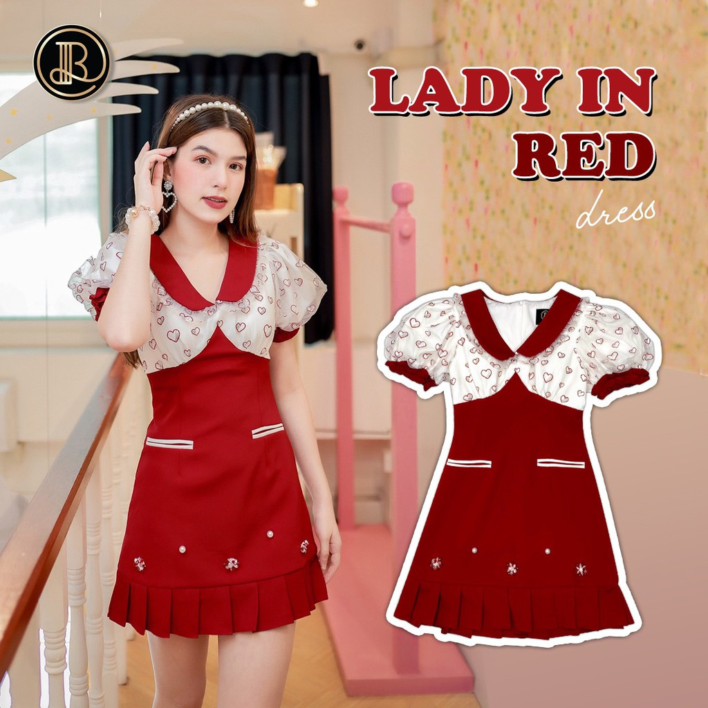 BLT BRAND เสื้อผ้าแบรนด์แท้การันตี มินิเดรส LADY IN RED เหลือแต่ Size L  นะคะรีบๆก่อนของหมด