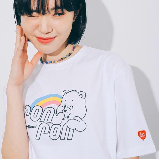 #RONRON x #CAREBEARS เสื้อยืด ron ron rainbow care bears (พรีออเดอร์) ของแท้💯 จากเกาหลี one size ขาว/ชมพู/ฟ้า