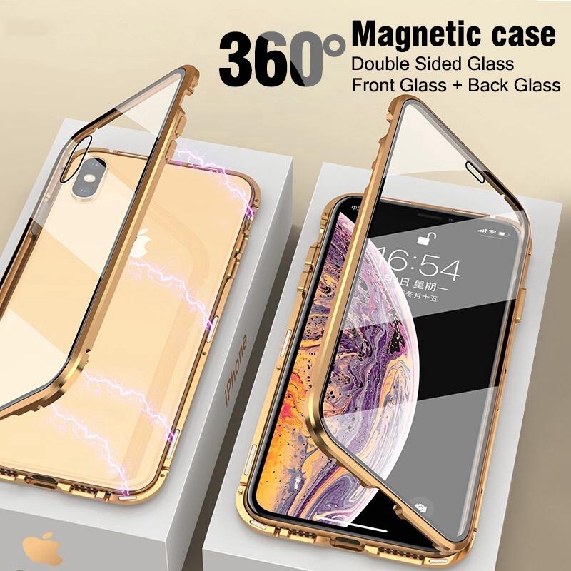 เคสโทรศัพท์มือถือแบบสองด้านสําหรับ Iphone 6 6s 7 8 Plus X Xs Xr 11 Pro Max Se 2020