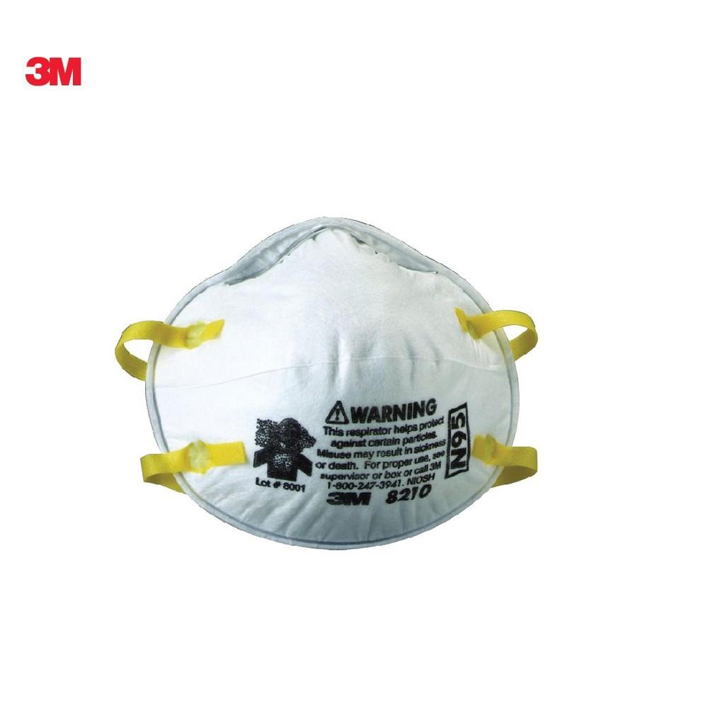 ▨【สินค้าเฉพาะจุด】 3M 1 ชิ้น หน้ากากป้องกันฝุ่น และไวรัส 8210 N95 สามเอ็ม 8210