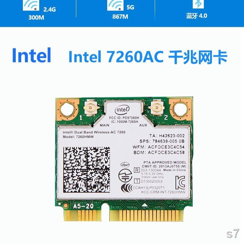 ♨Dell ASUS Acer Samsung โน้ตบุ๊ก Gigabit การ์ดเครือข่ายไร้สาย All-in-one โมดูล WiFi Bluetooth 4.0