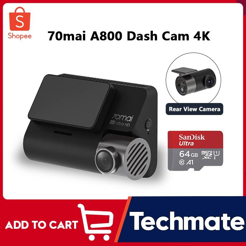 70mai A800 Dash Cam 4K Dual-vision กล้องติดรถยนต์ RC06 Rear Cam