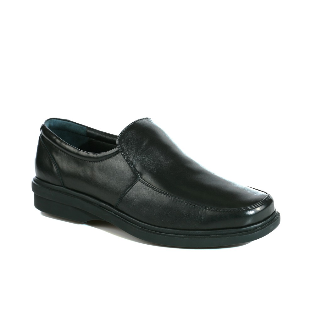Saramanda รุ่น 107148 Grafton L หนังลูกแกะ รองเท้าคัชชูผู้ชายหนังแท้ แบบสวม สีน้ำดำ