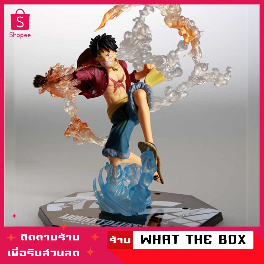 ฟิกเกอร์ วันพีช 18ซม. Anime One Piece Monkey D Luffy Battle Ver Boxed PVC Action Figure Collection วันพีช โมเดล วันพีช