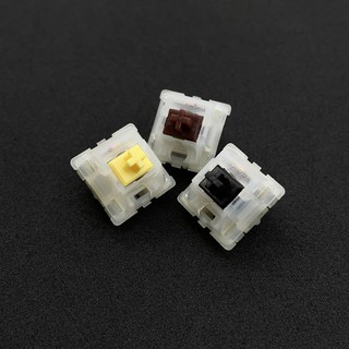 5-Pin Gateron Milky Yellow/Black/Brown Switch สำหรับ Mechanical Keyboard
