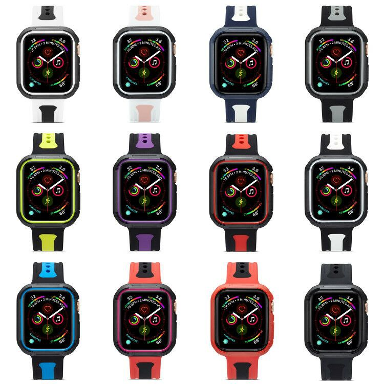 ( Apple Watch Strap ) เคสซิลิโคนสําหรับ Apple Watch Series 6 Se 5 4 3 2 1
