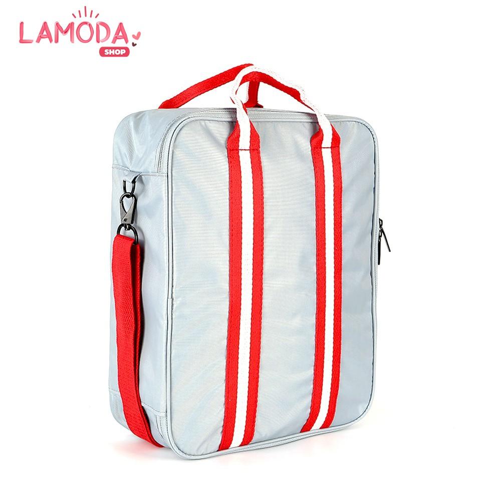 กระเป๋าเดินทางแบบสะพาย พิเศษ! ติดกับกระเป๋าเดินทางล้อลากได้