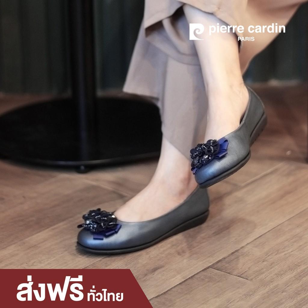 รองเท้าแฟชั่น pierre cardin Shoes ปิแอร์ การ์แดง รองเท้าผู้หญิง รุ่น 59AD101 รองเท้าคัชชู หนังแท้ แบรนด์ดังจาก ฝรั่งเศส
