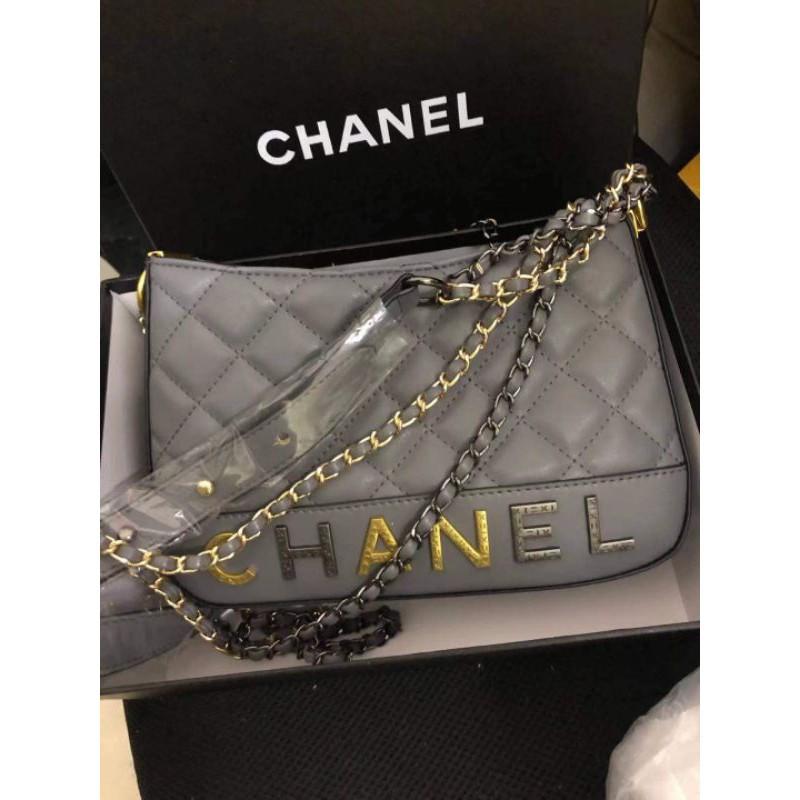 [สินค้าแบรนด์]Chanel Lambskin Hobo Sling Bag