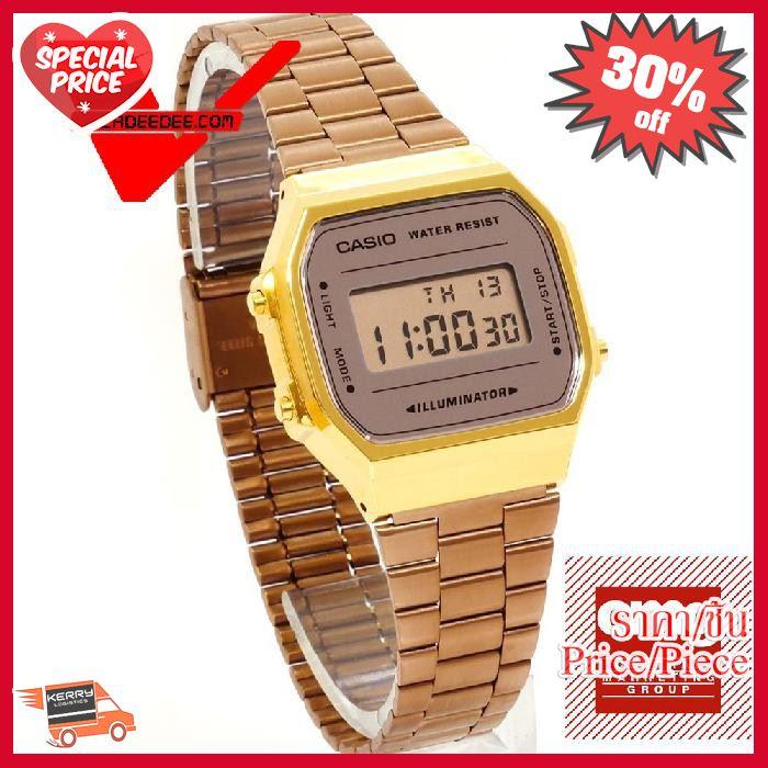 NEW!! ## Casio Standard (คาสิโอ) นาฬิกาข้อมือ สายสแตนเลส (ประกัน CMG ศูนย์เซ็นทรัล1ปี) รุ่น A168WECM-5DF , A168WECM-5 ##