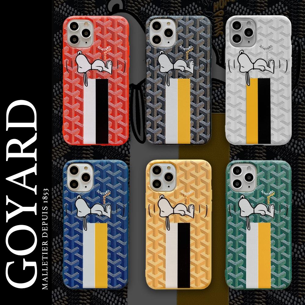 การ์ตูน Snoopy Goyard เคสโทรศัพท์ iPhone 7 8 Plus X XS MAX XR SE 2020 11 Pro Max ซิลิโคน TPU ยืดหยุ่นปกหลัง
