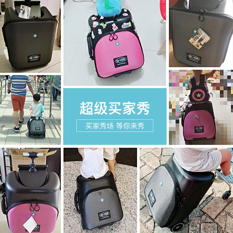 ♗❄ กระเป๋าเดินทางล้อลากใบเล็ก กระเป๋าเดินทางล้อลากสวิสขี้เกียจกระเป๋าเดินทางรถเข็นเด็กสามารถนั่งสามารถขึ้นเครื่องลื่นเด็