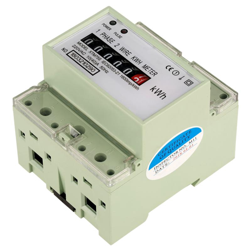 Rrian 220 V 10 ( 40 ) A Digital 1-Phase 2 Wire 4P din-Rail Electric on kv meter, co2 meter, btu meter, keg meter, electric meter, landis gyr meter, bike trainer with power meter, kilowatt meter, frequency meter, temperature meter, inductance meter, phoenix meter, power factor meter, ppm meter,
